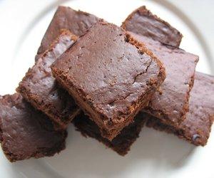 food, chocolate, and brownies image