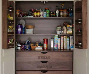 diy, inspiration, and kitchen pantry designs image