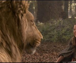 georgie henley, jesus christ, and lion image
