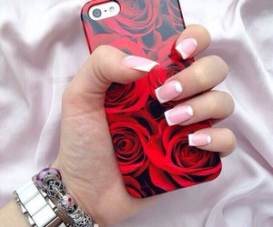 case, iphone, and manicure image