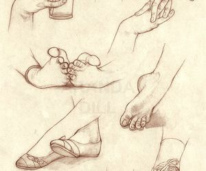 feet, hands, and art image
