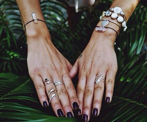 fashion, hands, and rings image