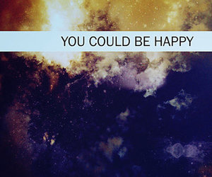 happy, galaxy, and quote image