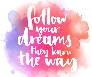 dreams, follow, and text image