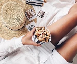 white, popcorn, and tumblr image