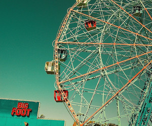 vintage, fun, and ferris wheel image