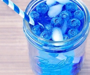 blue, blueberry, and drink image