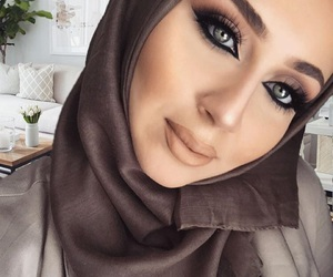 brown, eyes, and eyeshadow image