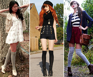 bloggers, fashion, and knee high image
