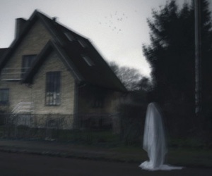 dark, ghost, and house image