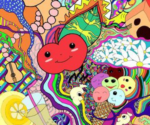 color, dizzy, and colorful image