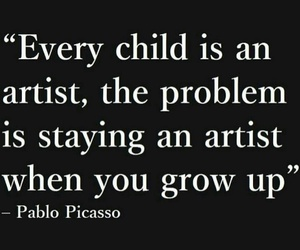 pablo, picasso, and quote image