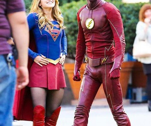 flash and Supergirl image