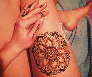 beautiful, henna, and mandala image