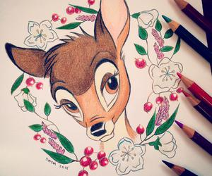 art, bambi, and color image