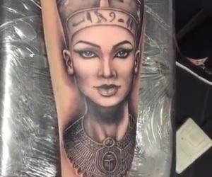 inked, nefertiti, and skin image
