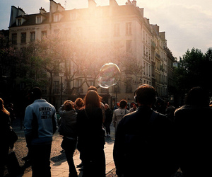 people and bubbles image