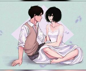 couple, shingeki no kyojin, and eremika image