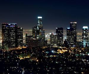 city, la, and lights image