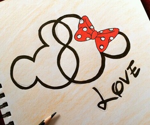 love, disney, and drawing image