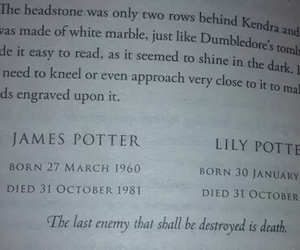 harry potter, james potter, and book image