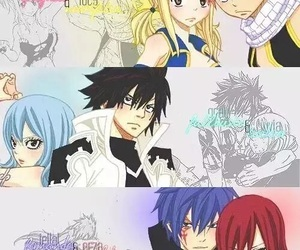 nalu, gruvia, and jerza image