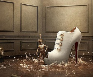 shoes, louboutin, and white image