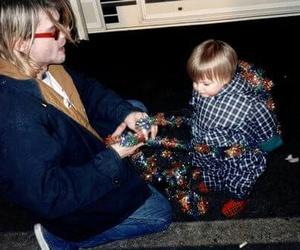 kurt cobain, baby, and frances bean cobain image