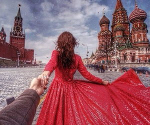 moscow, couple, and dress image