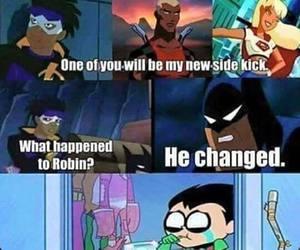 lol, teen titans, and batman image