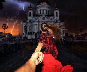 couple, moscow, and follow me image
