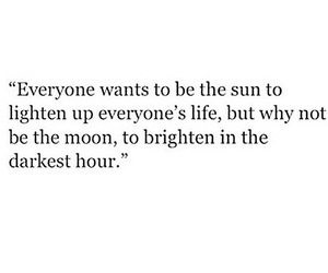 moon, life, and quote image