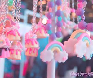 rainbow, kawaii, and pink image