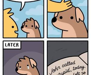 dog, funny, and sad image