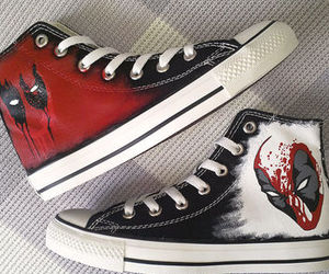 converse, deadpool, and Marvel image