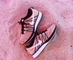 nike, pink, and pink shoes image