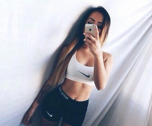 nike, girl, and fitness image