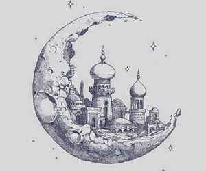 moon, drawing, and art image