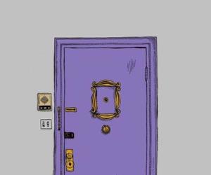 door, friends, and love image