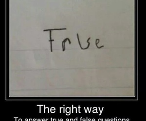 true, false, and funny image