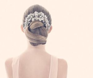 hair, pretty, and wedding image