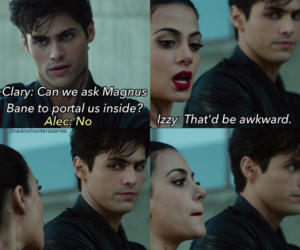 alec lightwood, isabella lightwood, and shadowhunters image