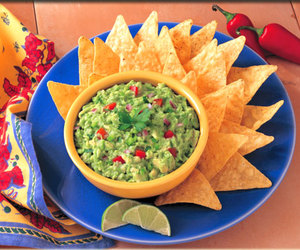 food, guacamole, and nachos image