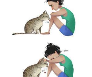 cat, cry, and sad image