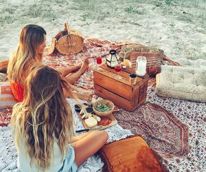 beach, sisters, and travel image