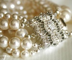 fashion, pearls, and bracelet image