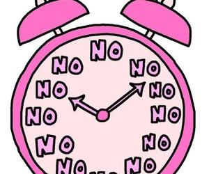 no, clock, and pink image