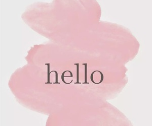 hello, wallpaper, and pink image