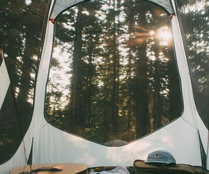nature, tent, and camping image