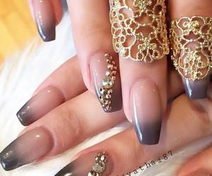 nails, girl, and long nails image